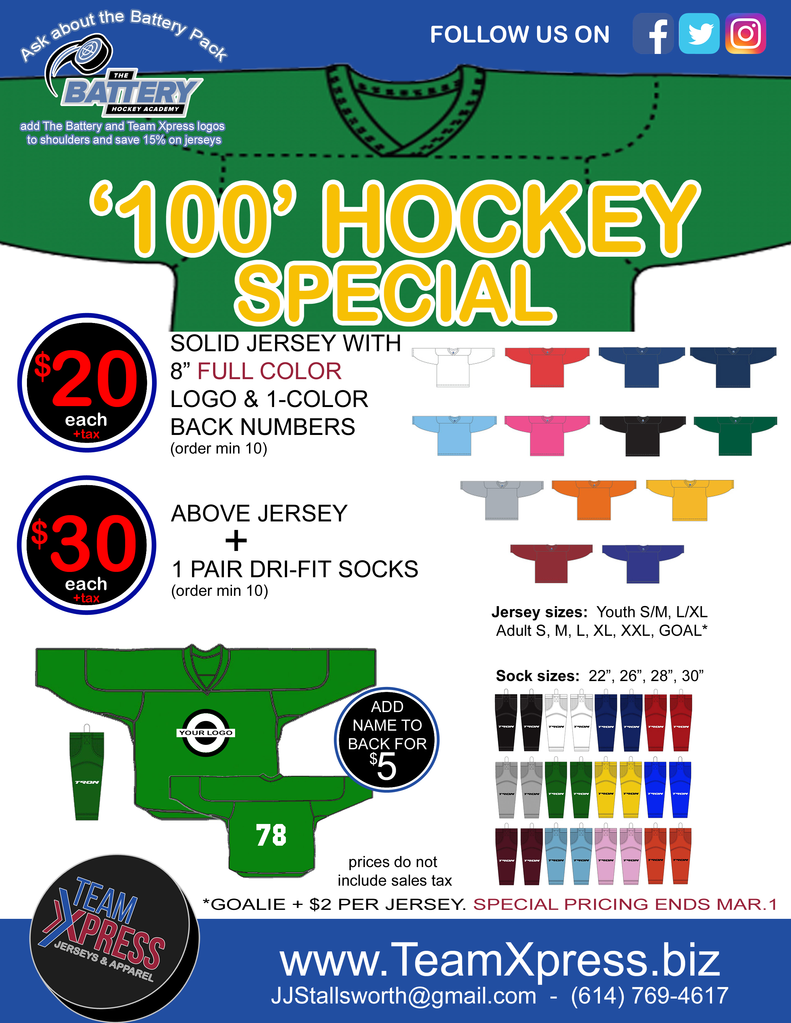 100 Jersey Special